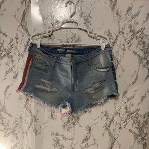 Mossimo American Flag Jean Shorts
